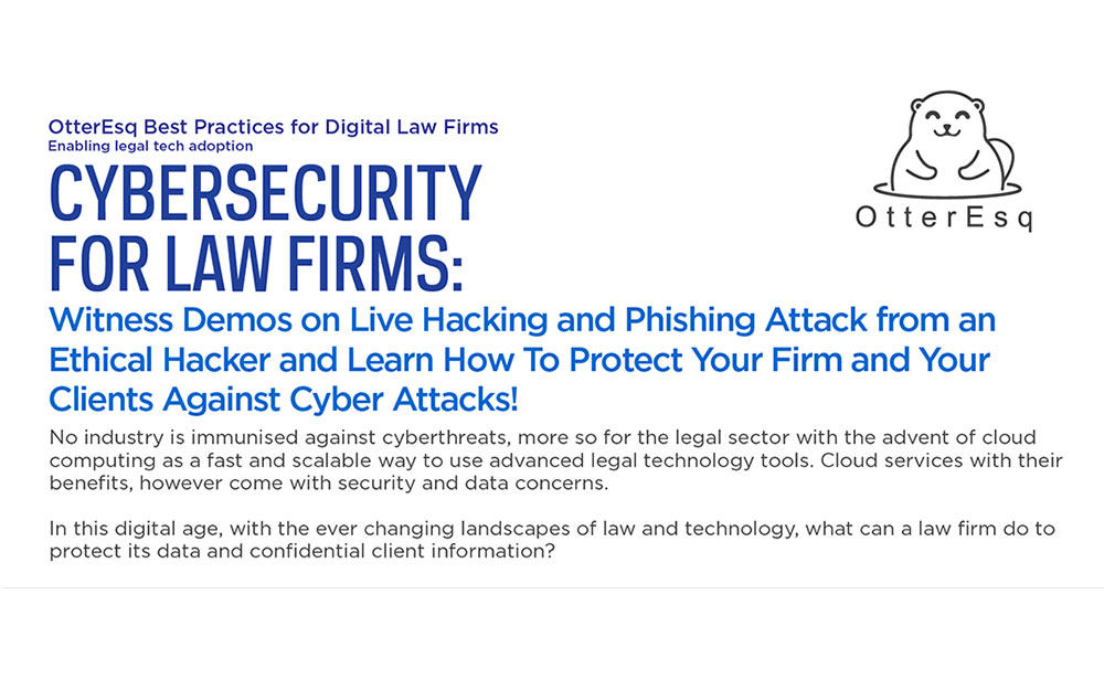Cybersecurity for Law Firms
